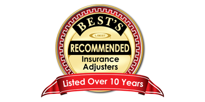 Best's Recommended Insurance Adjusters Over 10 Years