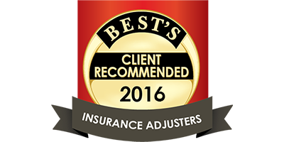 Best's Client Recommended Insurance Adjusters 2016